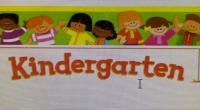 Kindergarten Please come after 9am