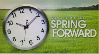 Put your clocks ahead by an hour